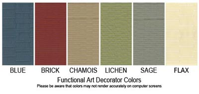 Functional Art standard fabric colors