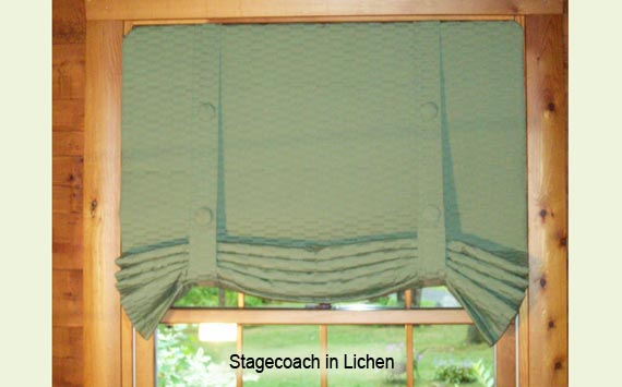 Stagecoach in Lichen with custom button-top